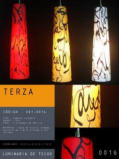 Luminaria de Techo modelo TERZA CÓDIGO : 001-0016 TIPO : Lámpara colgante SOCKET : E27  FOCO : 3 unidades de 60w c/u MATERIAL : Vidrio DIMENSIONES : 0.52 L x 0.12 A x 1.10 H