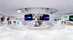 ZTE barcelona mwc on Behance Tv Set Design, Lounge Design, Hall Design, Stand Design, Museum Exhibition Design, Exhibition Stall, Exhibition Display, Clothing Store Design, Retail Store Design