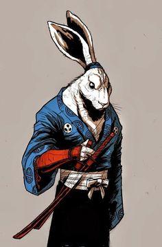 Usagi Yojimbo by Markoa #tmnt *I like the literal personalisation of animal figures.