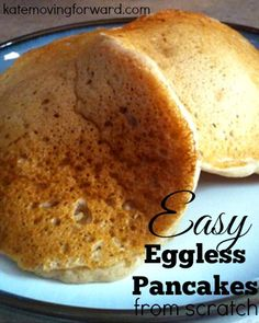 Why am I always running out of eggs when I want to make pancakes?! Love this simple recipe for pancakes that has NO eggs!