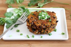 Mexican Spiced Sweet Potato Black Bean Cakes  Recipe | MyFoodDiary.com