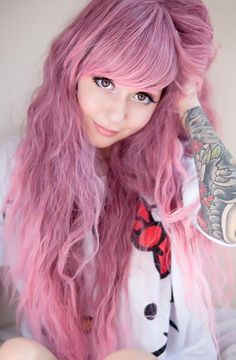 crazy hair color gonna grow my hair this long and then dy it Dye My Hair, Pastel Pink Hair, Pretty Hair Color, Coloured Hair, Unicorn Hair, Punk, Crazy Hair, Hipster, Grunge Hair