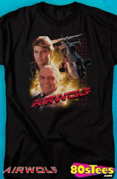 Airwolf T-Shirt: Airwolf Mens T-Shirt  Home entertainment at its best, Airwolf, is illustrated with great art and design.