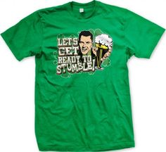 Lets Get Ready To STUMBLE! St. Patrickss Day Mens T-shirt Funny Drinking St. Pattys Day Design Mens Tee (Kelly Green Large)