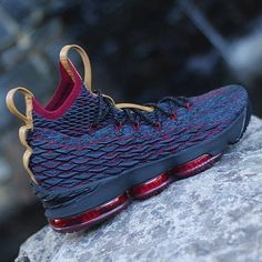 8a7b882cad6 LeBron James debuted the Nike LeBron 15 Cavs colorway during the team s  Media Day. This Nike LeBron 15 comes dressed in a Navy upper with Wine Red  accents