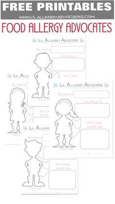 1000 images about Food Allergy Printables on Pinterest
