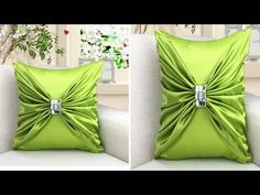 Free Online Videos Best Movies TV shows - Faceclips Diy Cushion Covers, No Sew Pillow Covers, Cushion Cover Designs, Pillow Cover Design, Bow Pillows, Diy Throw Pillows, Sewing Pillows, How To Make Pillows, Pillow Crafts