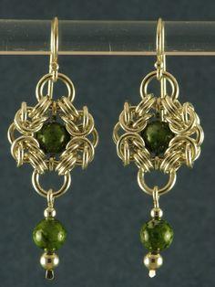 green romanov earrings