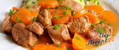 Recept Vepřové kostky v mrkvi Pork, Sweet, Ethnic Recipes, Kale Stir Fry, Candy, Pigs