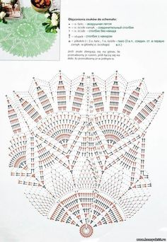 Knitted napkins and small things for the home Crochet Doily Diagram, Crochet Doily Patterns, Crochet Chart, Thread Crochet, Filet Crochet, Crochet Motif, Crochet Stitches, Knit Crochet, Crochet Dollies