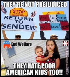 Racist GOP showing disgusting behavior towards children seeking help from both sides of the border!!!