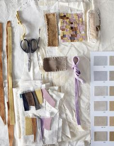soojin kang's toolbox. love the color combos of the suede swatches.
