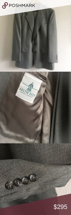 Vintage AUSTIN Reed Men's 2pc Suit 44 2pc Vintage Austin Reed Jacket 2 button lined with sewn -flap pockets 3 inside pockets. 1 rear vent in size 44. Pants Flat fronted. This incredible classic Austin Reed London-England label. In excellent condition. Austin Reed  Suits & Blazers Suits