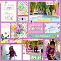 Layout using  FOR THE RECORD: SUMMER by Becca Bonneville and Digital Scrapbook Ingredients. Also used one of Everyday Moments Vol 3 Templates by Digital Scrapbook Ingredients