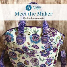 Meet the Maker - Harley B Handmade - Andrie-Designs Paper and PDF bag patterns Handmade bag Bag Patterns, Handmade Bags, Pdf, Meet, Tote Bag, Paper, Creative, Blog, Design