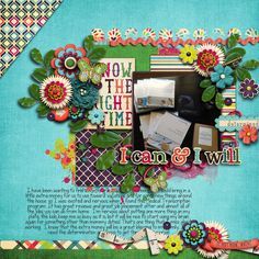 Digital Scrapbook Page by Britt | Can and Will by Bella Gypsy