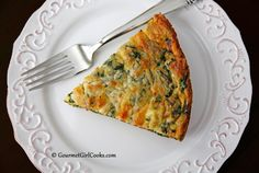 Gourmet Girl Cooks: Bacon, Baby Greens & Cheddar Frittata - Low Carb
