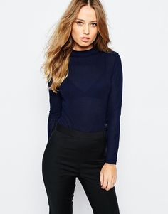 Image 1 ofY.A.S Tia Bodysuit With Turtle Neck