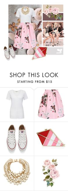 """""""Romantic white t-shirt"""" by sheepsy ❤ liked on Polyvore featuring Cotton Citizen, RED Valentino, Converse, Kate Spade, WardrobeStaple, white and Tshirt"""