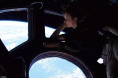 Tracy Caldwell looks down on Earth from the International Space Station [2010].  This remains one of my favorite photographs of all time.  Just a girl, daydreaming out of her bedroom window.  Wow.  Humans are amazing, right??