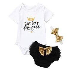 Pantaloncini Stampa Leopardata+Facia Carolilly 3 PCS Completo Bambina Tuta Neonata Estivo Maglietta a Manica Corta con Scritta Divertente