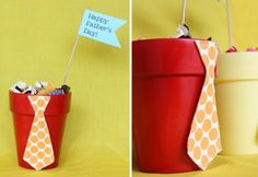 fathers day tie pots Get ready for action with these Fathers Day DIY ideas