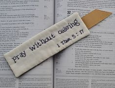 Religious Bookmark  Bible Verse Scripture  by RyensMarketplace, $8.00
