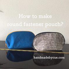 ラウンドファスナーポーチの作り方、化粧ポーチにおすすめ | 型紙