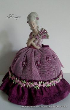 Half Doll Pincushion-Dresser Doll-Boudoir by LeesVintageTreasures