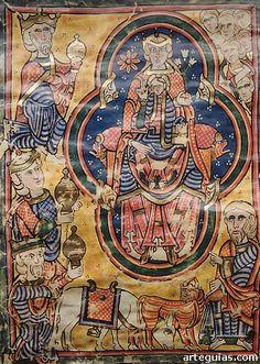 Iluminación (facsímil) de la Biblia de Burgos, creada en el Monasterio de Cardeña