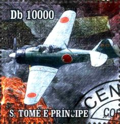 Stamp: Japanese planes of World War II (São Tomé and Príncipe) (War – All others) Mi:ST 4412