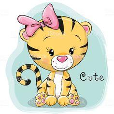 Cute Cartoon Tiger royalty-free cute cartoon tiger stock vector art & more images of cute