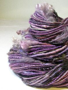 Handspun Art Yarn Corespun Sheeping Beauties by SheepingBeauty, $36.00