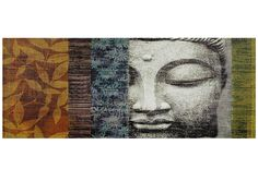 Buddha Statue Graphic Art on Wrapped Canvas