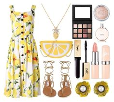 """""""Lemon"""" by princess13inred ❤ liked on Polyvore featuring Steve Madden, Oscar de la Renta, Buccellati and Chanel"""