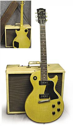 1956 Gibson Les Paul Special with the original alligator soft case and Gibsonette amp