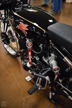 Seen at the Clubman's All-British Motorcycle Weekend. San Jose, CA. Motorcycle Tank, Moto Bike, Motorcycle Design, Bike Design, British Motorcycles, Vintage Motorcycles, Cars Motorcycles, Vincent Motorcycle, Bike Engine