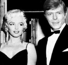 Marilyn Monroe & David Bowie ❤