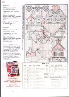 Schema punto croce I Love Antiques 02