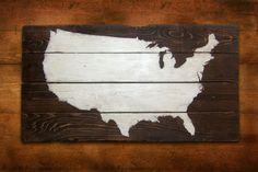 Rustic America Map Wall Art | Rustic Post Trading Co. | Bourbon & Boots