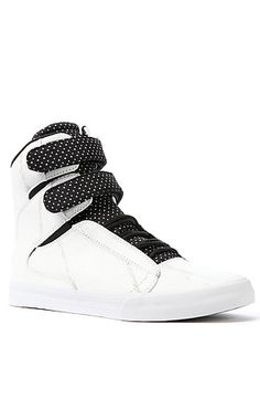 The Society Sneaker in White Painter Suede by SUPRA