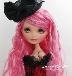 "** Evera ** 11"" 12"" 1/6 OOAK custom Everafter high Madeline Hatter Repaint by Yu #Dolls"