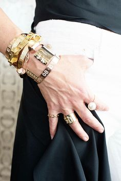 Jennifer Fisher on the art of layering jewelry with @Lisa Phillips-Barton Phillips-Barton Harper's Bazaar