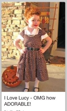 It's that time of year again... when my daughter randomly pops up on Pinterest in her I Love Lucy costume.  :)