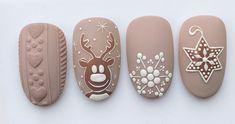 Nail Art Noel, Xmas Nails, Winter Nail Art, Cute Nail Art, Christmas Nail Art, Holiday Nails, Christmas Nail Designs, Fall Nail Designs, Cute Nail Designs