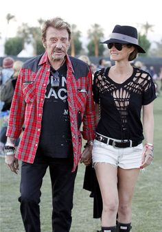 French Singer Johnny Hallyday at Coachella