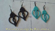 This is how I made this simple macrame earring. You can watch begining with earring closure, knotting Lark's Head knots, half hitches, double half hitches, t...