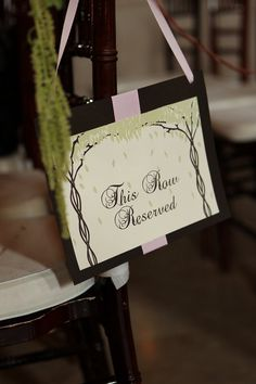 Reserved row for ceremony  // photo by Kenny Kim Photography