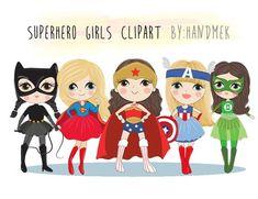 Dc Superhero Girl, Superhero Clipart, Superhero Party, Batman, Superman, Girl Clipart, The Originals Characters, Stationery Design, Batgirl