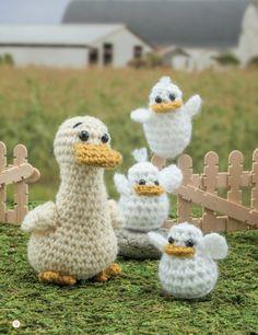 "Crochet Ducks from ""Crochet a Farm - 19 Cute-as-Can-Be Barnyard Creations"" by Megan Kreiner (MK Crochet)"